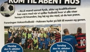 Åbent hus, kom og prøv motionsfodbold i Frederiksværk