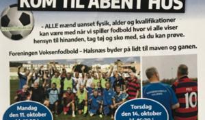 Åbent hus, kom og prøv motionsfodbold i Hundested