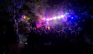 Tothaven by night med pizza, cocktails og live music